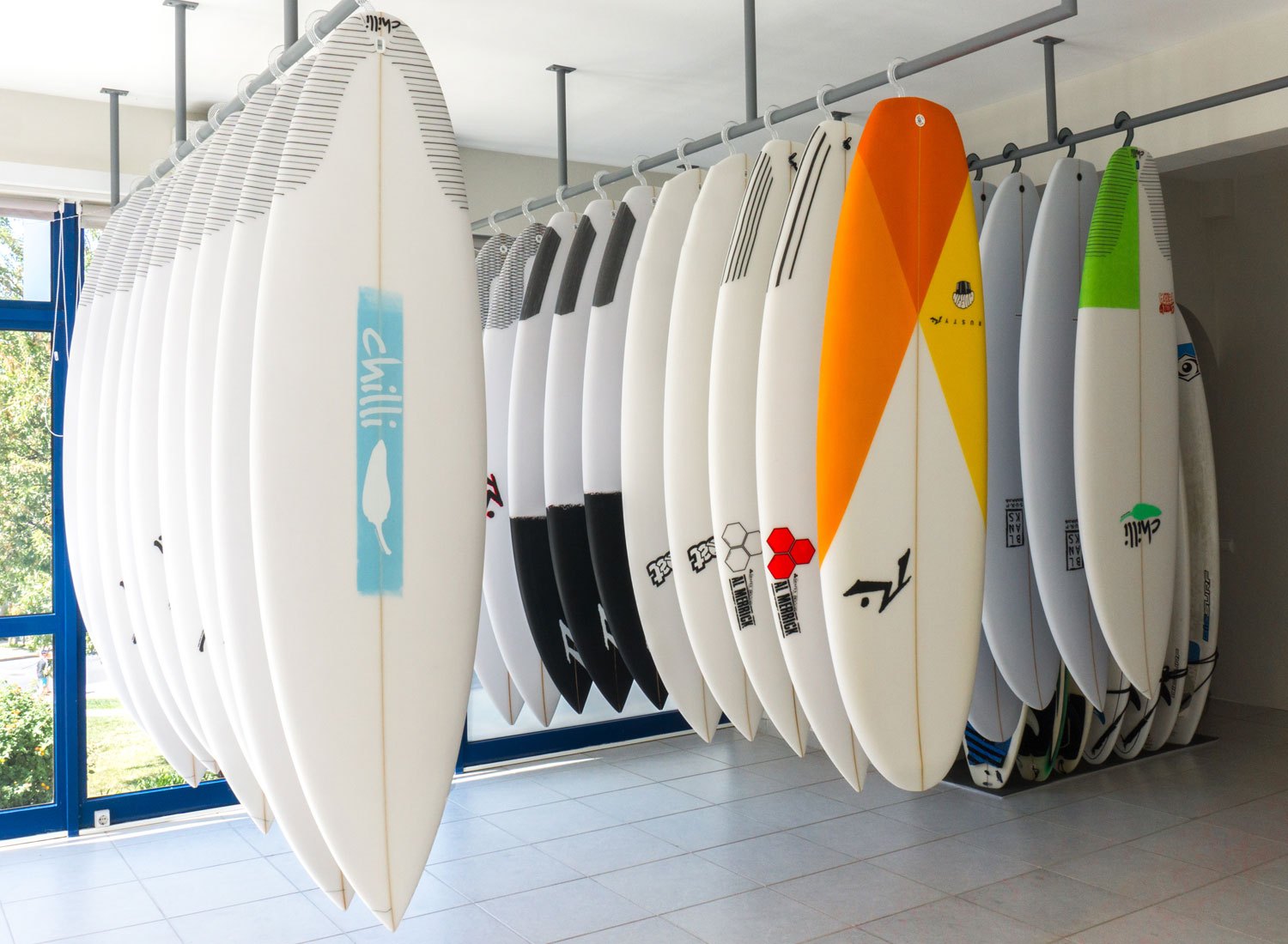 Surf shop in Lagos Algarve Portugal, test drive surfboards, try before you buy