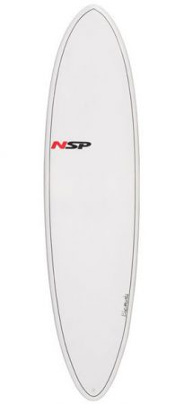 NSP Elements epoxy mini malibu surfboard in Lagos Algarve Portugal