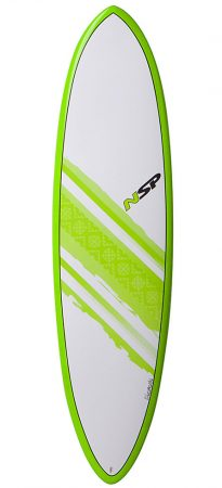 NSP Elements Funboard 7'2 surfboard in Lagos Algarve Portugal