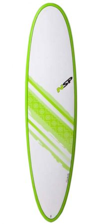 NSP Elements Funboard 7'6 surfboard in Lagos Algarve Portugal