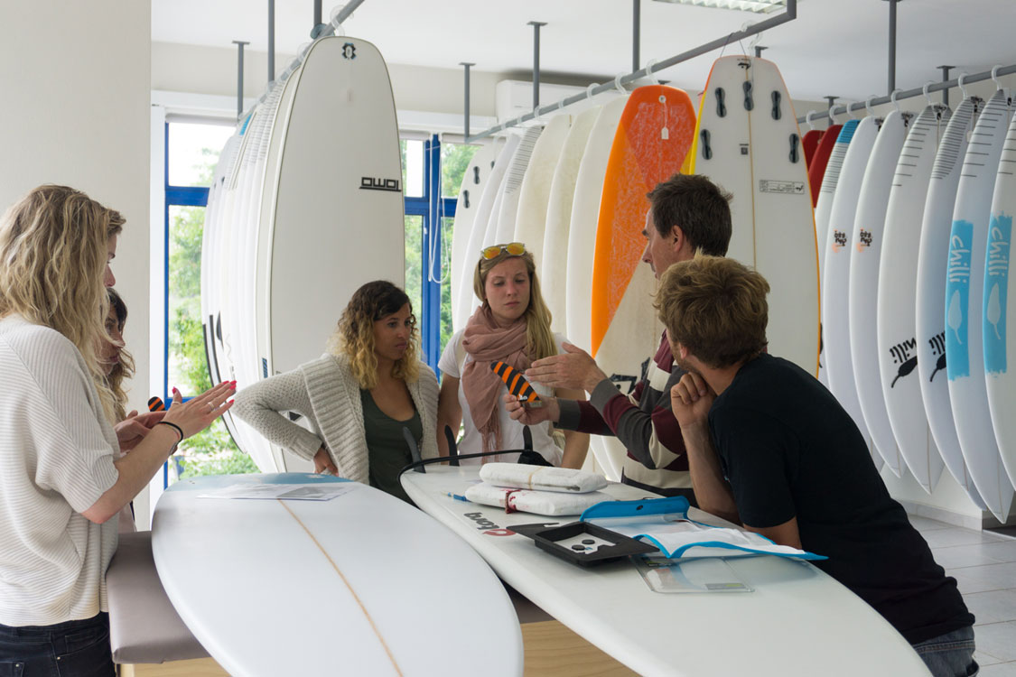 Surfboard analyzing and test drive in Lagos Portugal