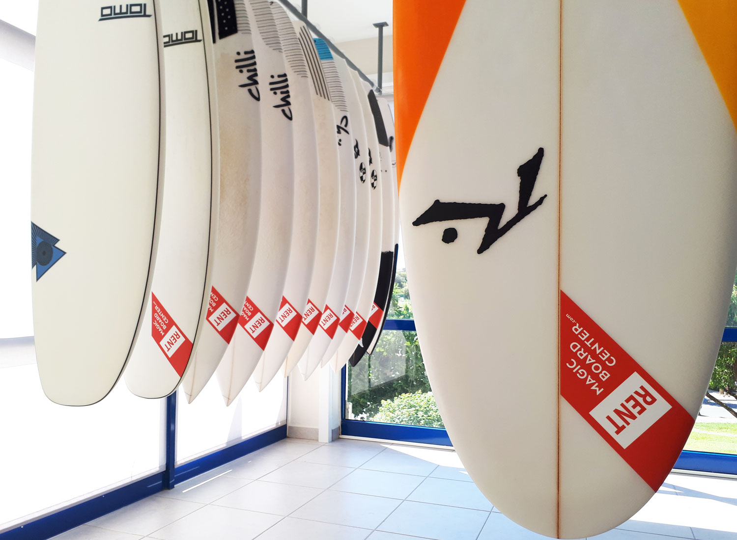 Test drive surfboards in Lagos Portugal (Magic Board Center)