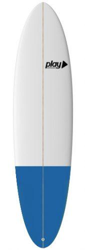 Play surfboards Mini Malibu 7'2 rent buy in Lagos Algarve Portugal