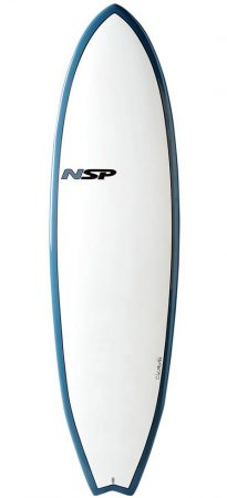 NSP Fish 6'4 surfboard in Lagos Algarve Portugal