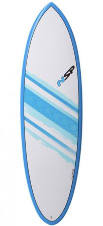 NSP Hybrid 6'2 surfboard in Lagos Algarve Portugal