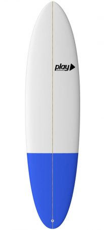 Play surfboards Mini Malibu 7'2 PU rent sale buy in Lagos Algarve Portugal