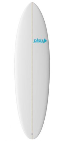 Play surfboards Mini Malibu 6'8 PU rent buy in Lagos Algarve Portugal