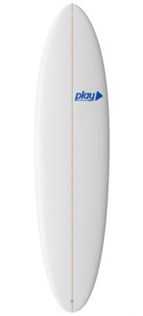 Play surfboards Mini Malibu 7'2 PU rent buy in Lagos Algarve Portugal