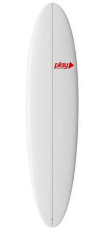 Play surfboards Mini Malibu 7'6 PU rent buy in Lagos Algarve Portugal