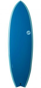 NSP Fish 6'4 surfboard Elements Ocean Blue test rent buy in Lagos Algarve Portugal