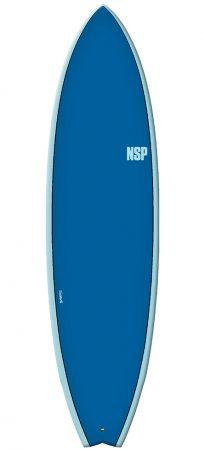 NSP Fish 6'4 (6'8) surfboard Elements HDT Ocean Blue test rent buy in Lagos Algarve Portugal