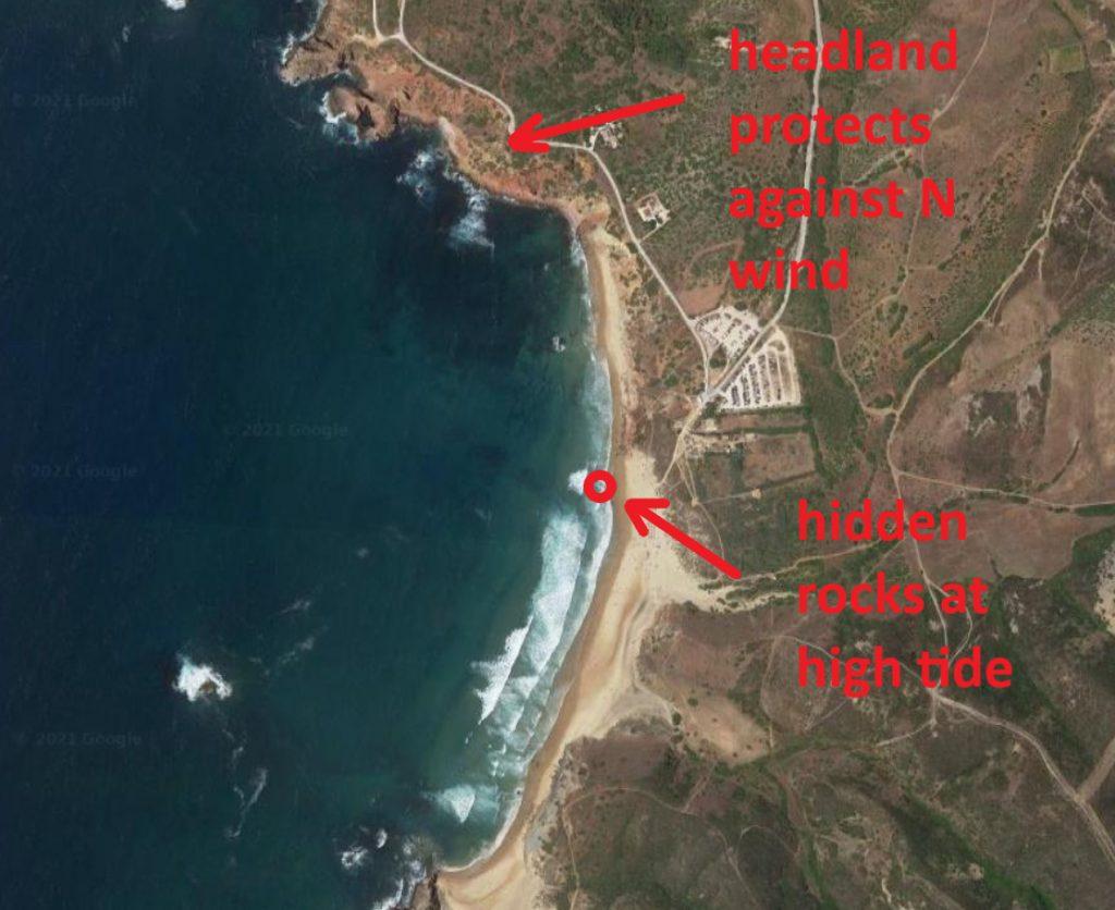 Amado beach surf spot in Carrapateira West coast Algarve