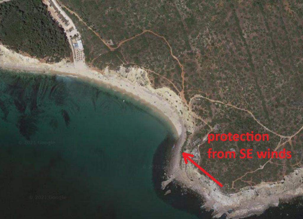 Cabanas beach surf spot in South Algarve