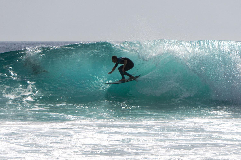 Surfing the magic surfboard Lagos Algarve Portugal