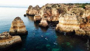 SUP rentals in Lagos to explore cliffs and caves of Lagos Algarve Portugal