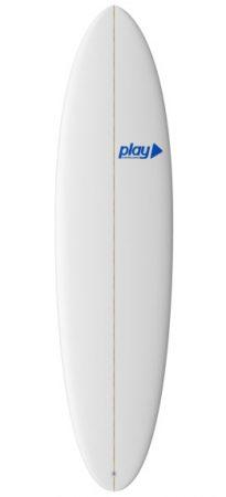 Play surfboards Mini Malibu 7'2 PU rent buy in Lagos Algarve Portugal