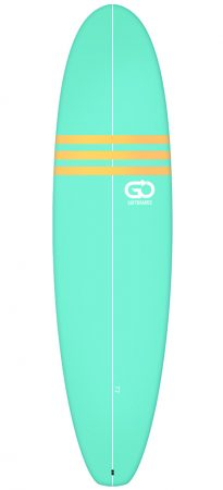 Go Surfboards 7'2 intermediate softboards rent in Lagos Portugal