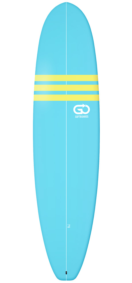 Go Surfboards 7'6 intermediate softboards rent in Lagos Portugal