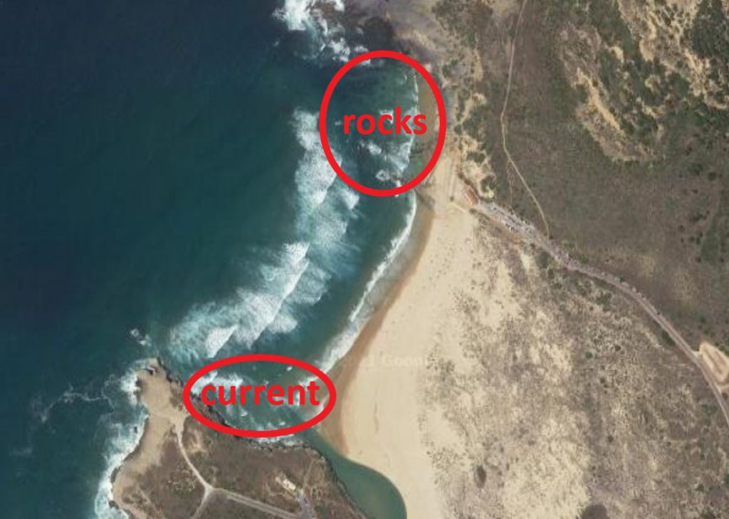 Amoreira beach surf spot in Aljezur West coast Algarve