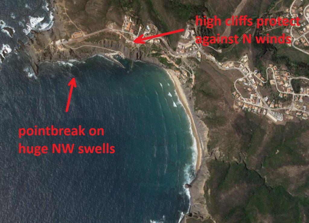 Arrifana beach surf spot in Aljezur West coast Algarve