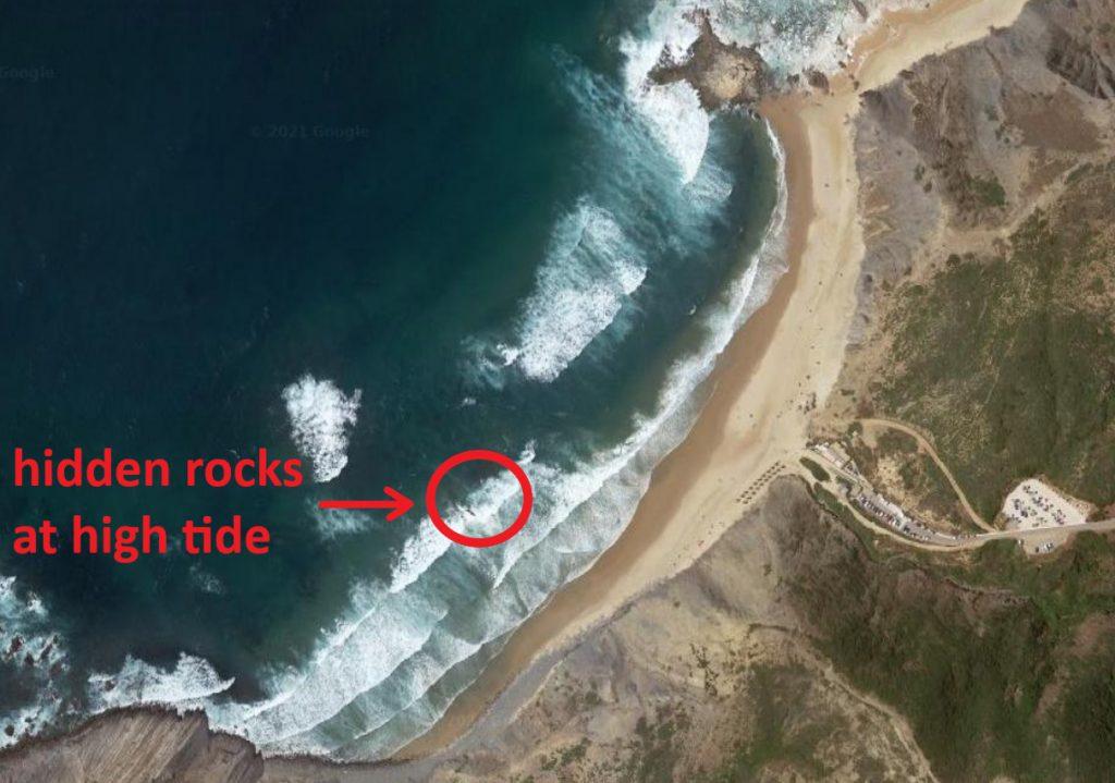 Castelejo beach surf spot in Sagres Vila do Bispo West coast Algarve