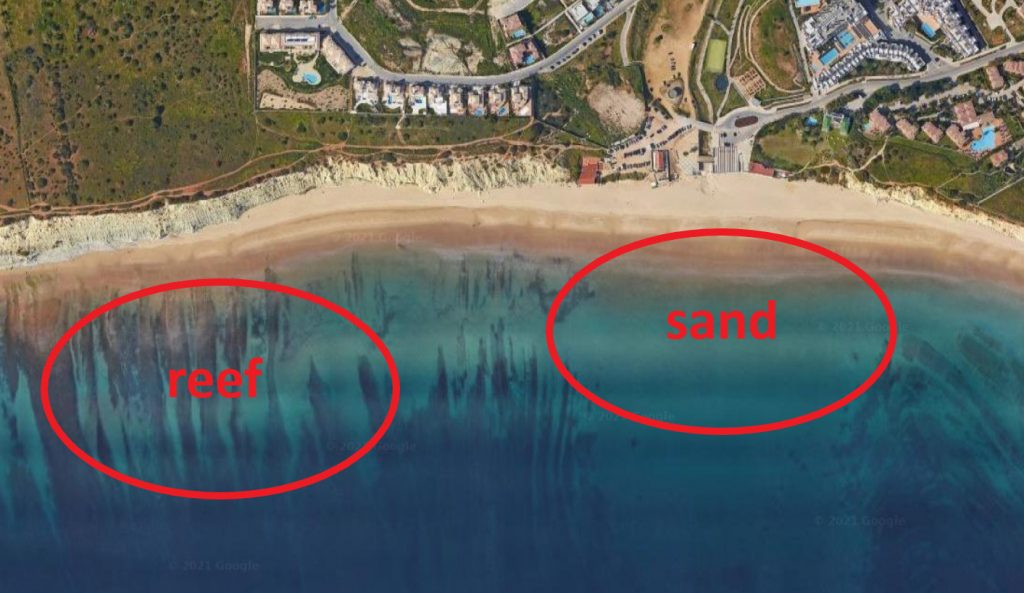 Porto de Mos beach surf spot in Lagos Algarve