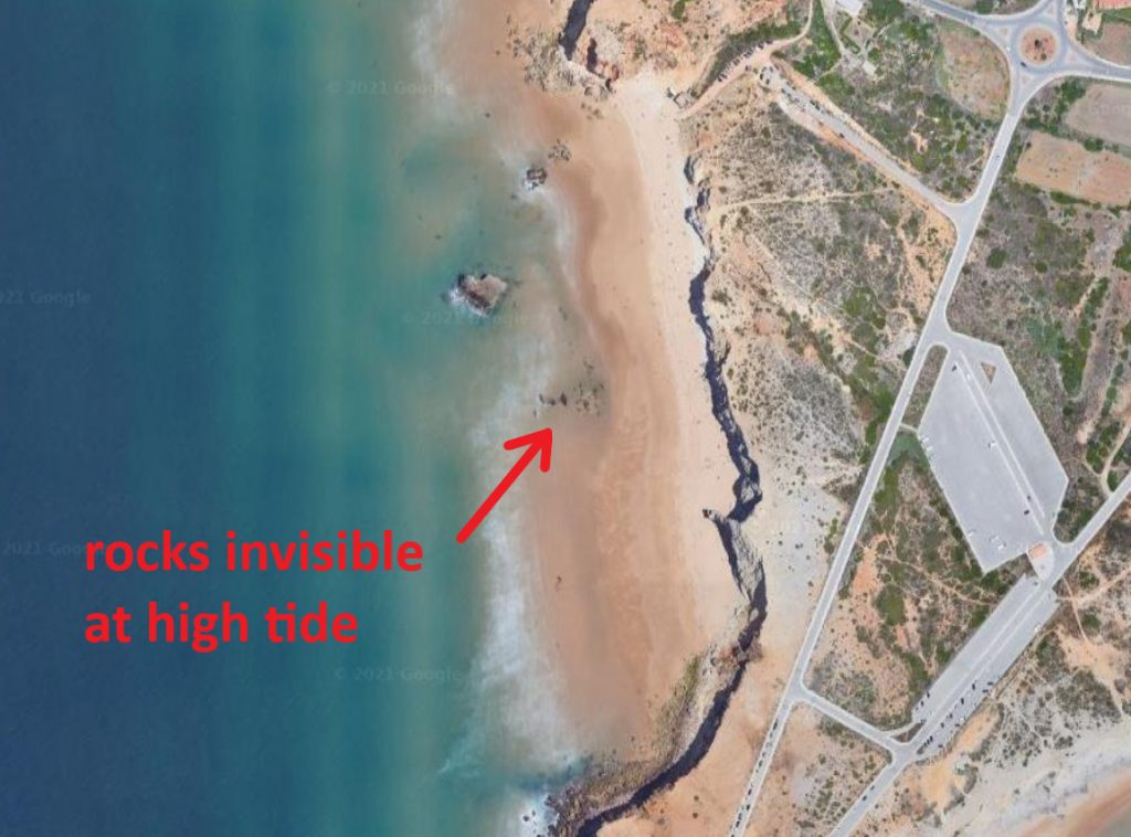 Tonel beach surf spot in Sagres Algarve